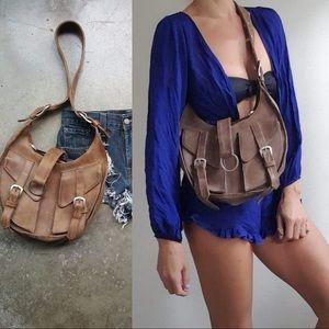 Italian Westworld western rounded leather bag wow